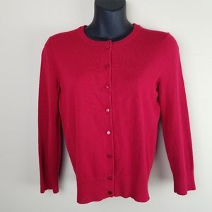Cable & Gauge Red Cardigan A95